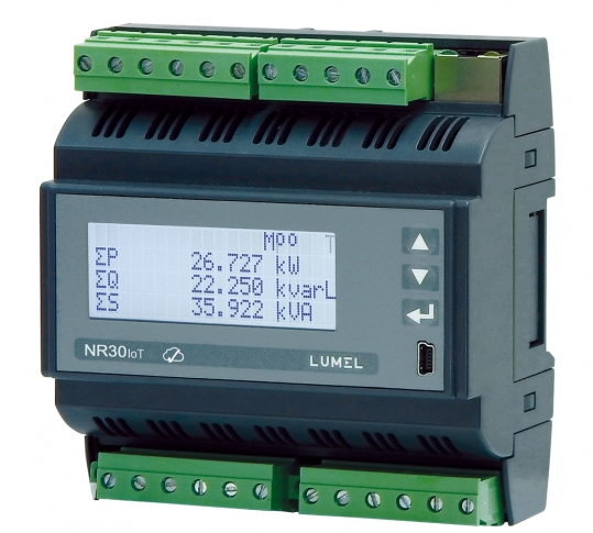 Lumel NR30IoT - Rail mounted 3-phase power network meter with